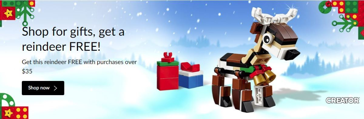 Get Your Free LEGO Creator Reindeer (40434) This Month