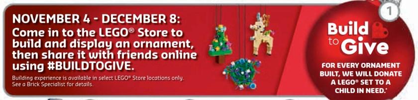 December 2019 LEGO Store Calendar