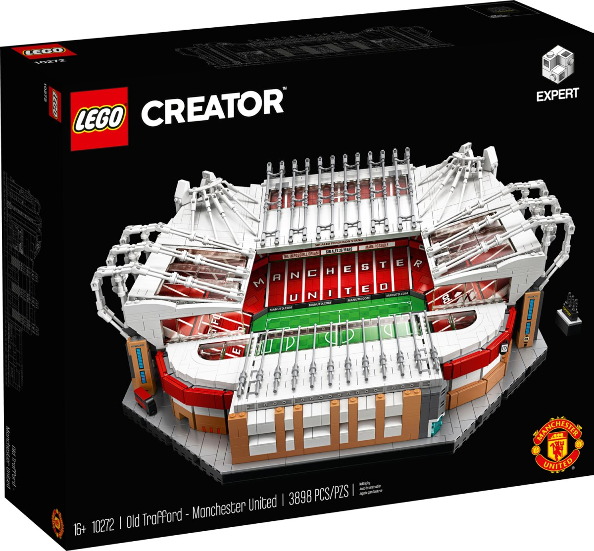 Celebrate 110 Years of Epic Football with the LEGO Creator Expert Old Trafford-Manchester United (10272) Set