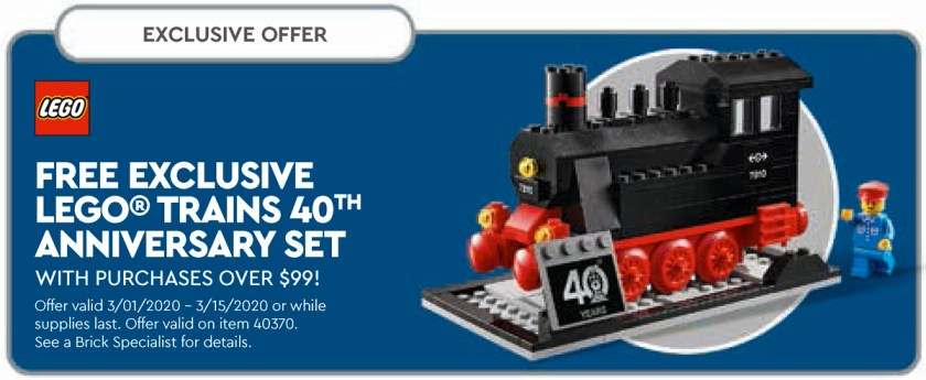 March 2020 LEGO Store Calendar