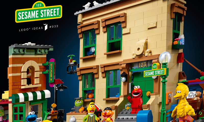 LEGO Ideas 123 Sesame Street (21324) Now Up at LEGO Shop@Home