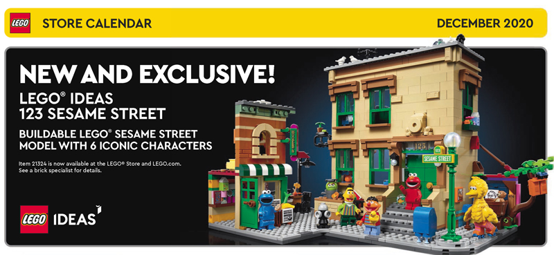 Check Out the December 2020 LEGO Store Calendar and Featured Freebies