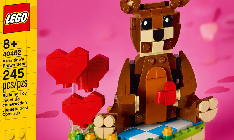 More Details on the LEGO Valentine's Brown Bear (40462) Seasonal Set