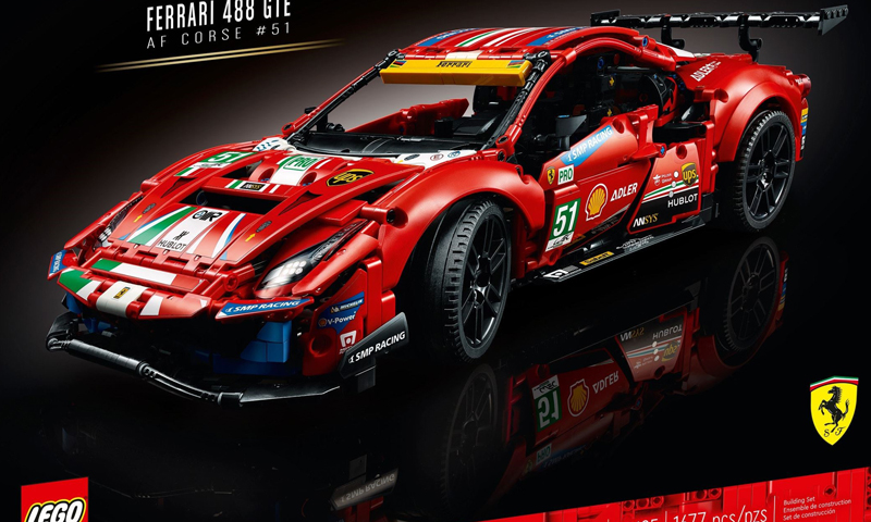 "LEGO Technic Ferrari 488 GTE ""AF Corse #51"" (42125) Roaring Its Way to Stores in 2021"