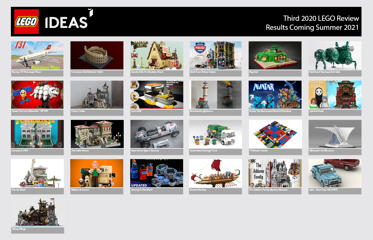 LEGO Ideas Kicks Off 2021 With These 25 Candidates for the Third 2020 LEGO Ideas Review Stage