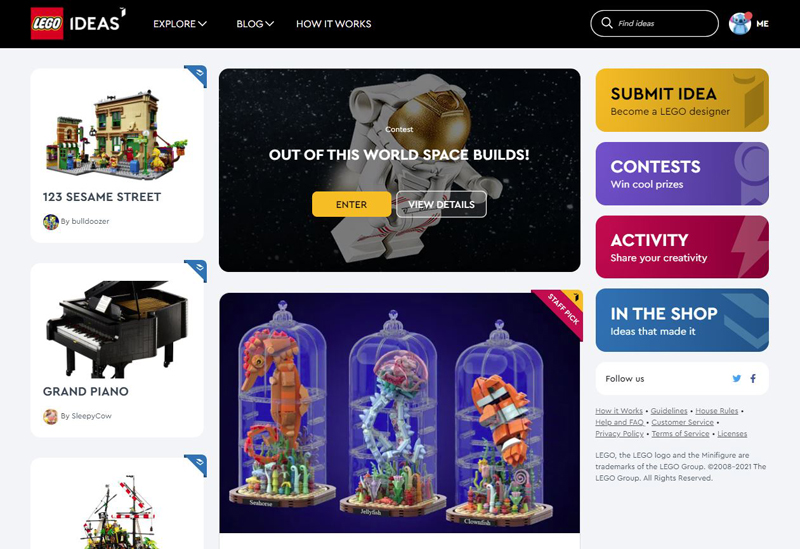 The LEGO Ideas Website Now Has a New Look