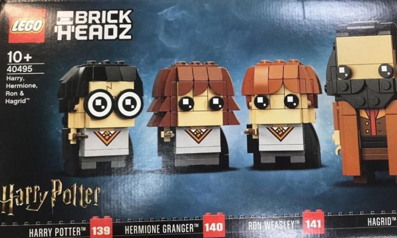 LEGO Brickheadz Harry, Hermione, Ron & Hagrid (40495) Set Discovered