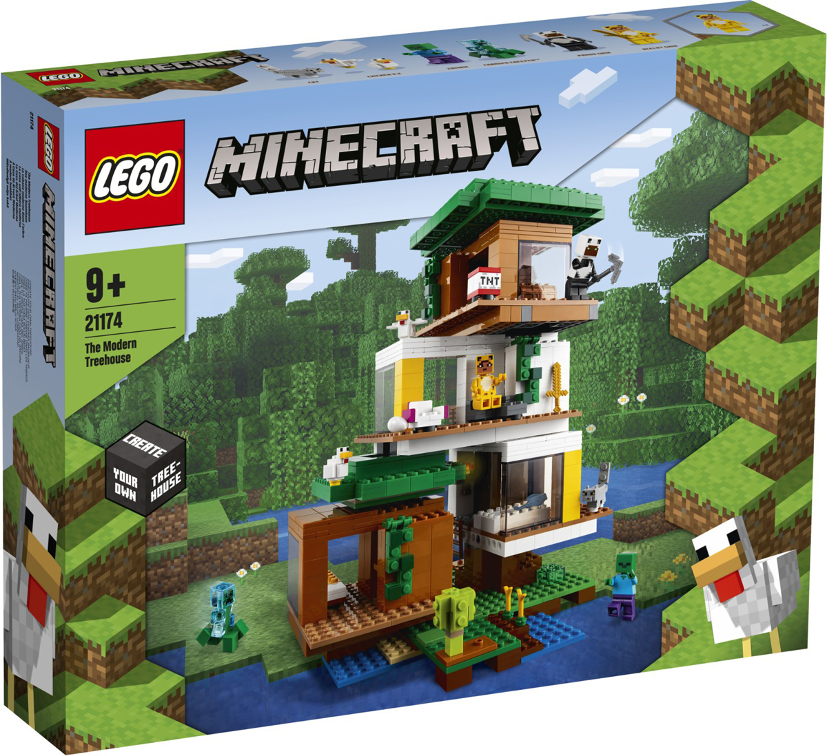 September Double Points for LEGO VIPs: LEGO Minecraft The Sky Tower (21173) and The Modern Treehouse (21174)