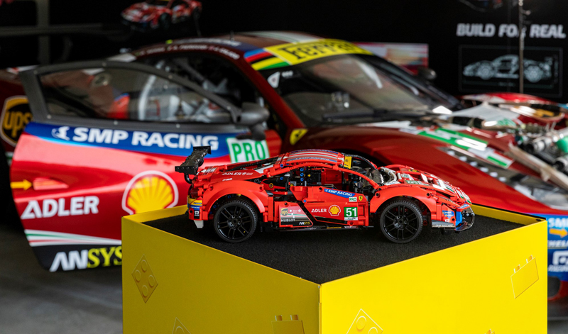 """LEGO Technic Ferrari 488 GTE """"AF Corse #51"""" (42125) Speed Its Way on a Real Race Track"""
