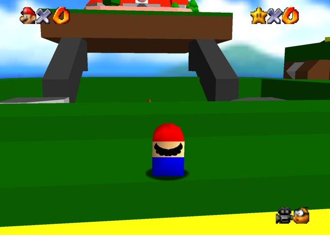 "LEGO Super Mario 64 ""?"" Block (71395) Set Inspires Game Mod for ""Super Mario 64"" with Microfig Mario"
