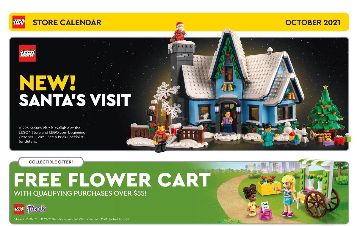 Revamped October 2021 LEGO Store Calendar Removes LEGO Harry Potter GWPs