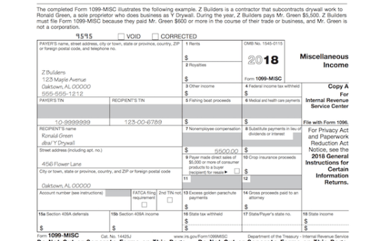 When is tax form 1099-MISC due to contractors?