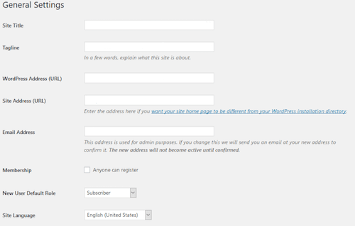 Setting up WordPress: Configuring settings, changing admin username and more