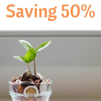 The Secret to Saving 50%