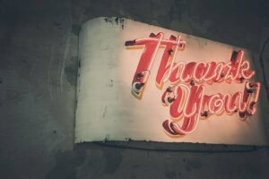 Email templates: Thank you emails