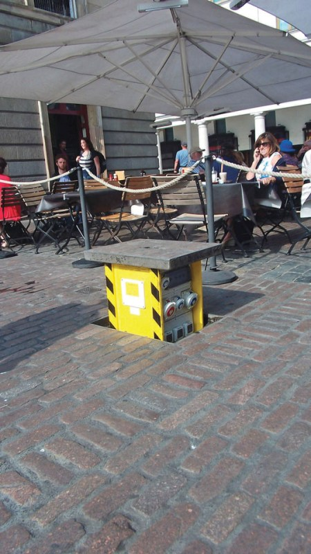 Pop Up Power Supplies® provide a safe, secure outdoor power supply to Covent Garden, London