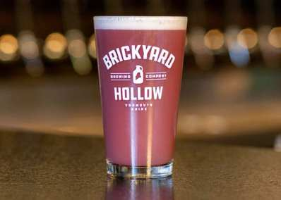 blueberry beer from Brickyard Hollow brewery in Yarmouth Maine