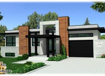 Maison Moderne Carre | Plan Maison Carre Maison Plain Pied With Plan ...