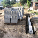 fondation mur agglos ou parpaing 150x150 Construire Un Mur De Clôture En Parpaings En 8 étapes