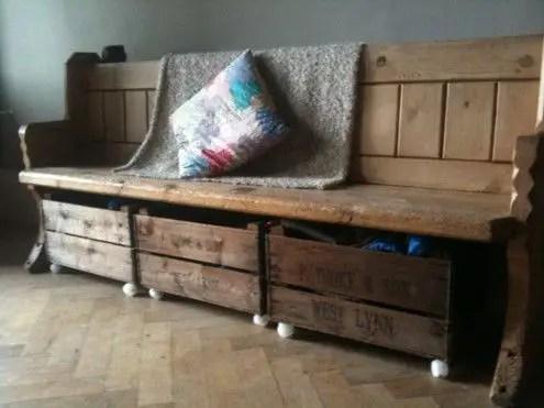 Banc coffre banc rangement design et deco - Fabriquer un meuble a chaussures ...