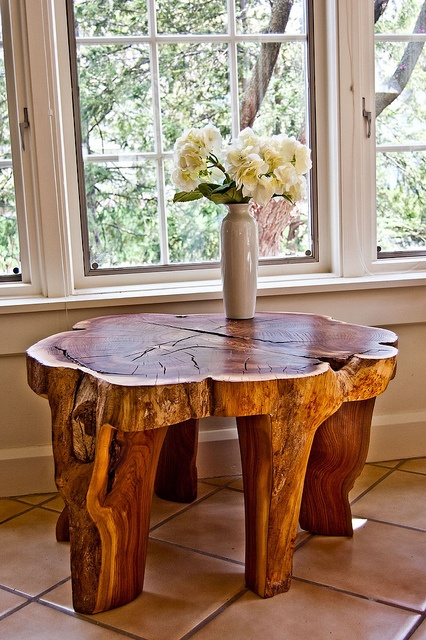 Fabriquer Table en tronc darbre  BricoBistro
