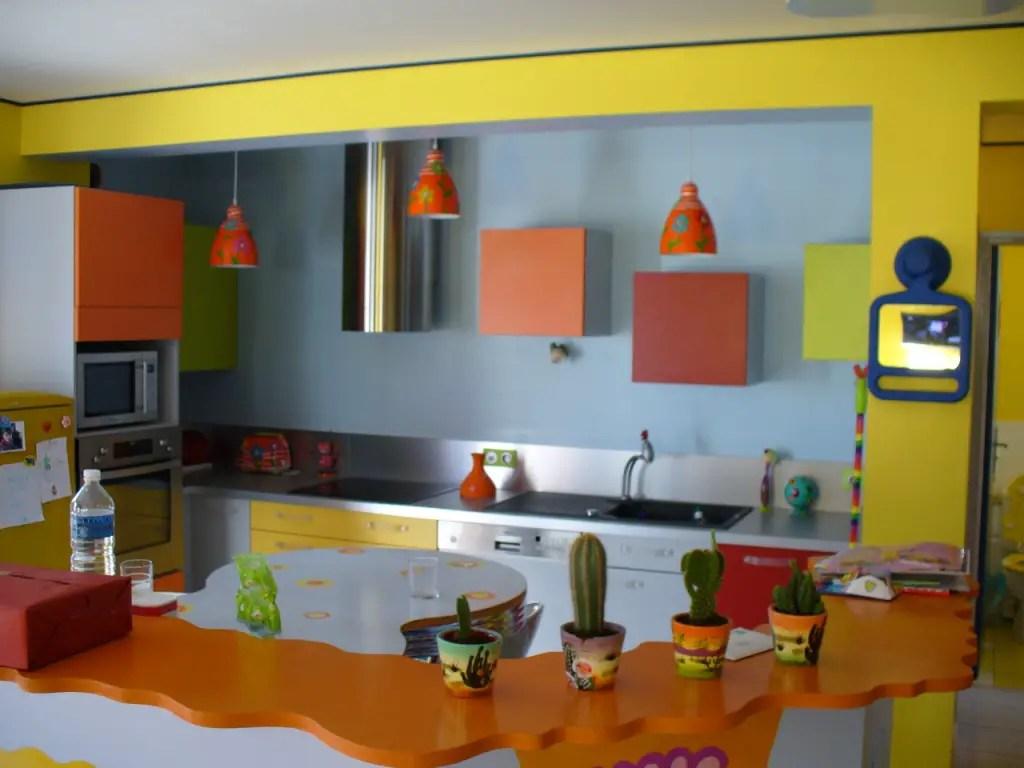 Deco Cuisine Vert Et Orange Ide Inspirante