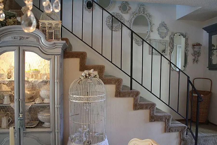 11 escaliers qui respirent le style shabby chic  BricoBistro