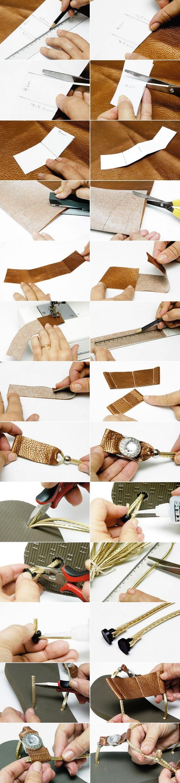 personalizar las chanclas con cuero