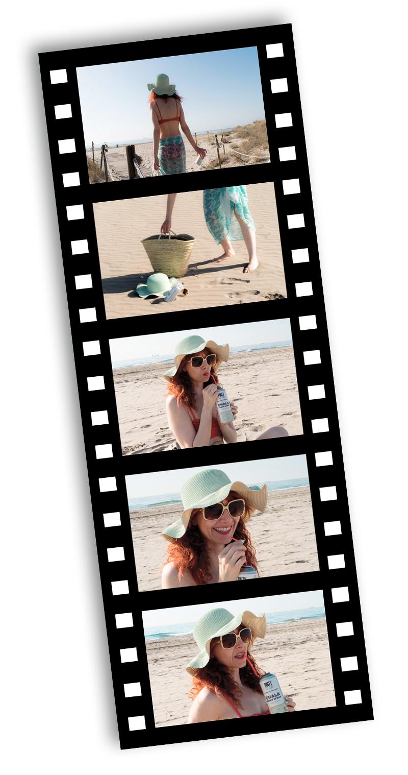 making of foto creativa en la playa