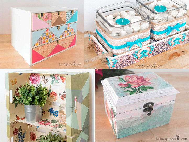 decoración con decoupage