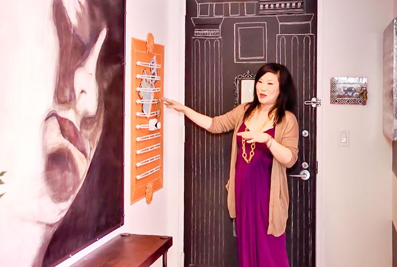 cómo decorar el recibidor de un apartamento de alquiler