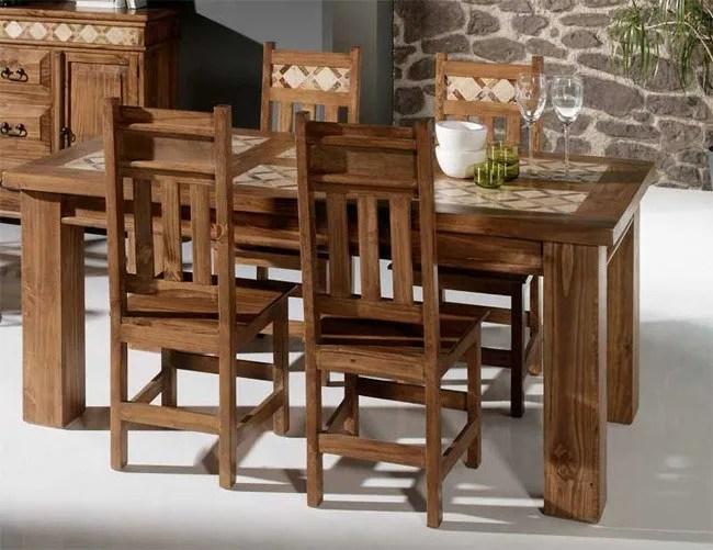 Mesa de Madera  Ideas para Decorar mesas de madera