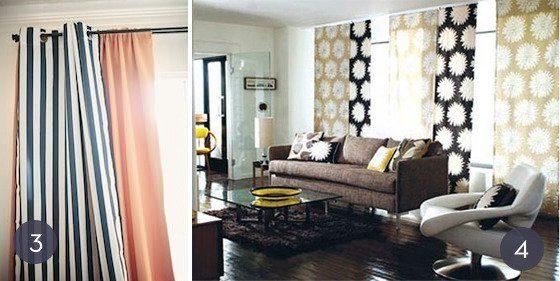 20 modelos de cortinas de tela baratas y sencillas  Brico y Deco