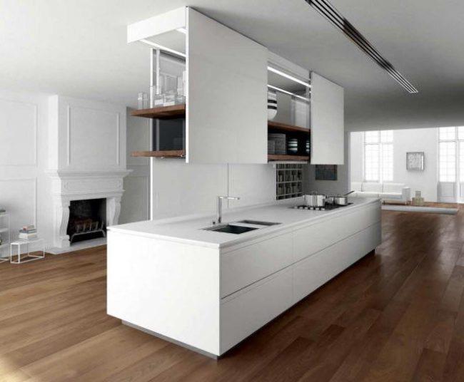 45 Cocinas minimalistas modernas 2019  imgenes  Brico y Deco