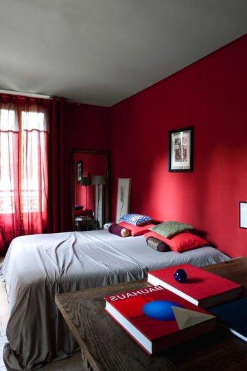Cuartos rojos modernos 30 fotos e ideas de decoracin