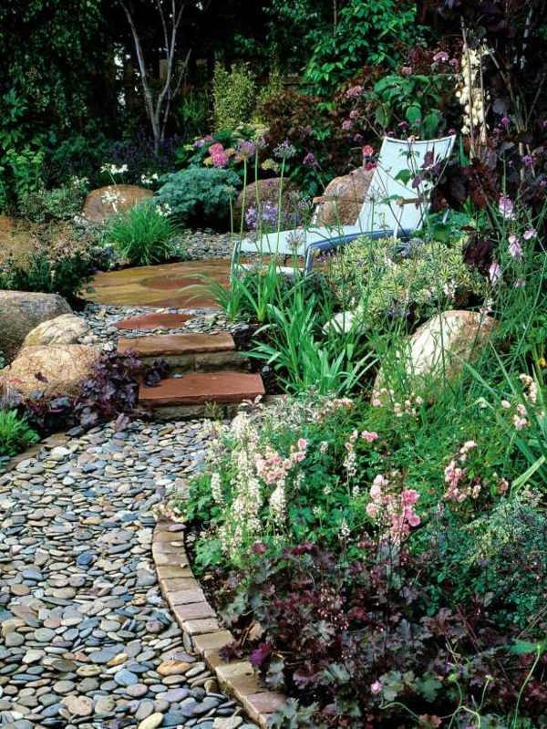 Jardines con piedras 45 fotos y sugerencias para su diseo y decoracin  Brico y Deco