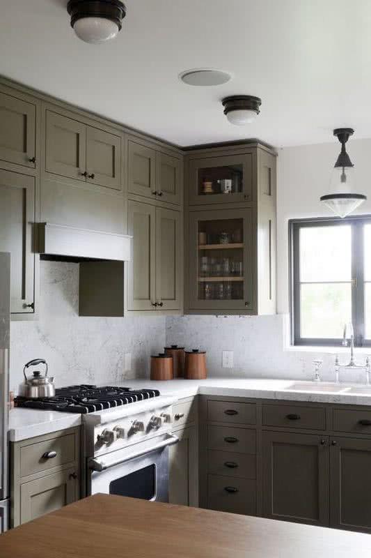 Azulejos Grises Para Cocinas Cocina Gris Y Blanca Con