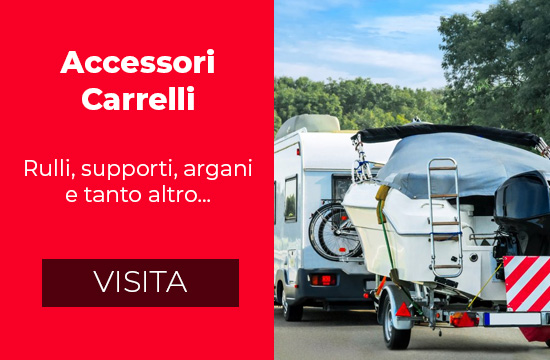 Accessori carrelli barca - rulli supporti argani