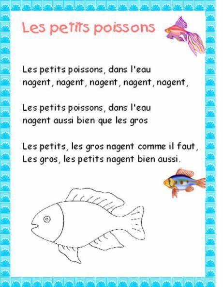 Petit Poisson Dans L'eau Comptine : petit, poisson, l'eau, comptine, Petits, Poissons, L'eau