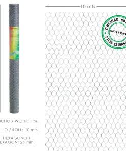 Enrejado Triple Torsion 25 / Ancho 100 cm. Rollo 10 Metros Uso Domestico
