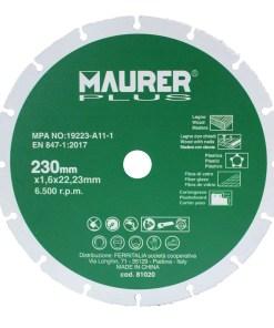 Disco De Corte Para Madera y Plasticos Ø 230 x 1