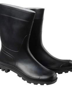 Botas goma bajas negras