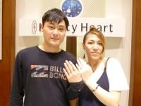 スイートブルーダイアモンドの結婚指輪をご購入(館林市/S様・K様)