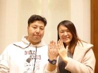 美女と野獣の結婚指輪をご購入(N様・Y様/伊勢崎市)