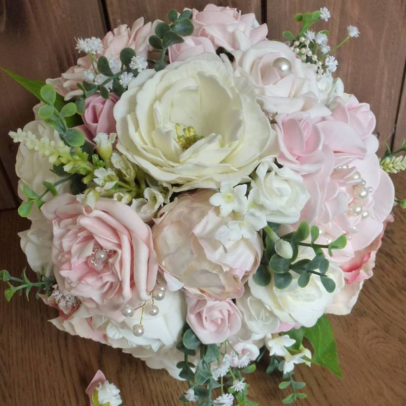Artificial Country Bridal Bouquet