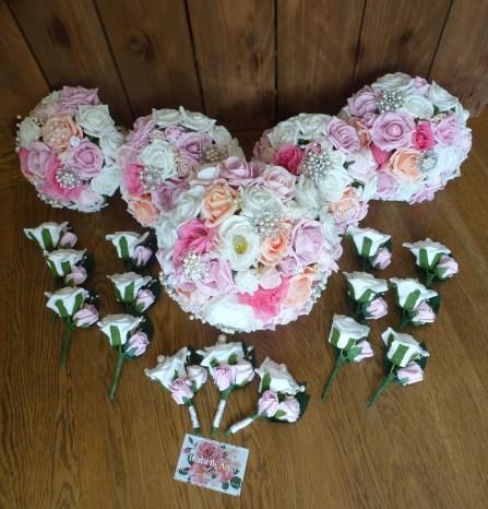 Pink bouquet set