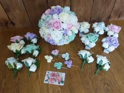 pastel mix bouquet set