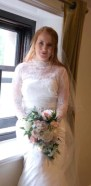 Paige wedding photo teardrop bouquet