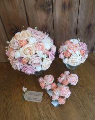 Pastel flowers wedding wrist corsages