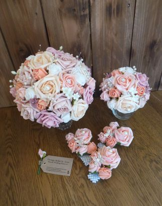 Pastel flowers wedding wrist corsages